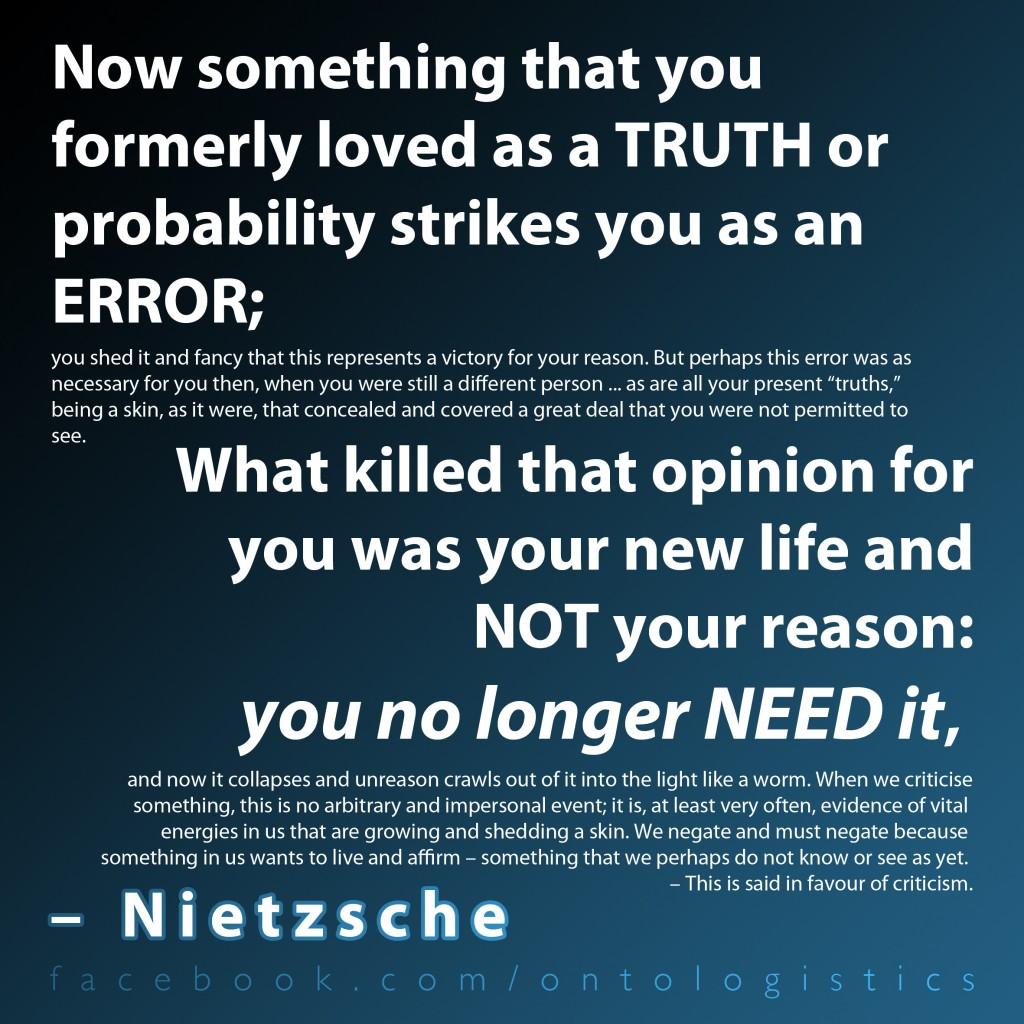 nietzsche truth and lies essay Philosophy, on truth and lies in a nonmoral sense - nietzsche.