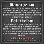 nietzsche monotheism polytheism
