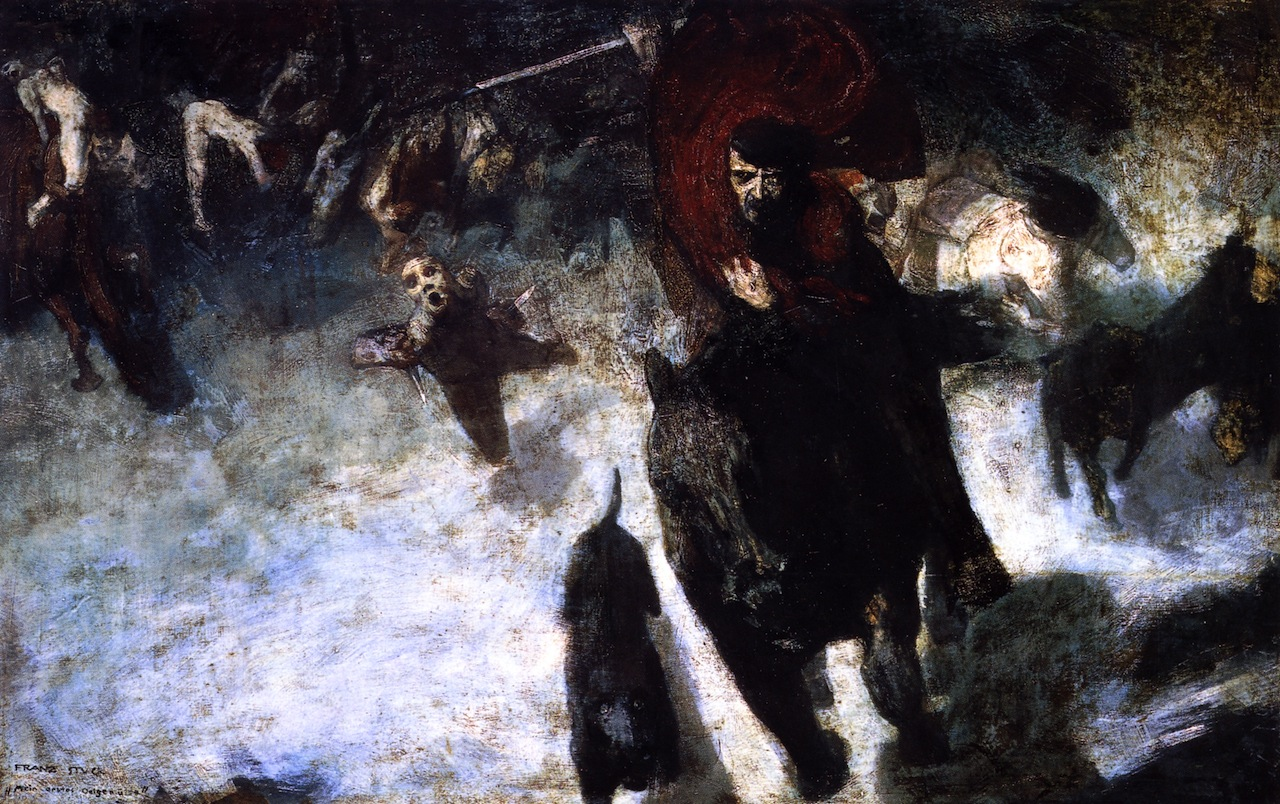 franz von stuck the wild hunt jung nietzsche fascism german teutonic