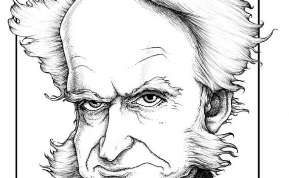 Resultado de imagem para schopenhauer caricatura
