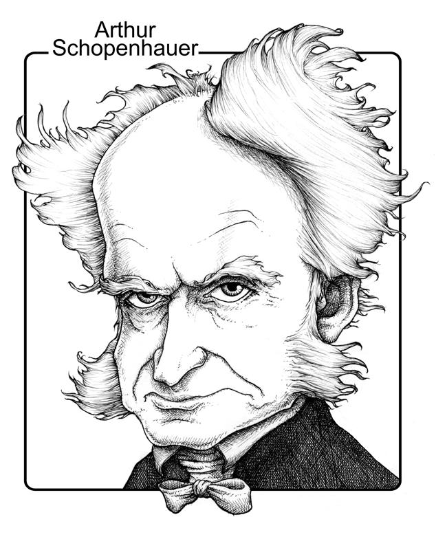 Gareth Southwell arthur schopenhauer cartoon caricature image